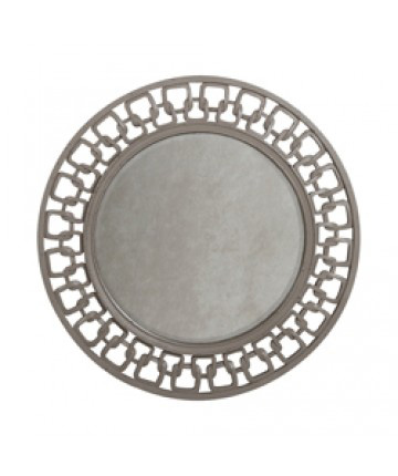 Image of Carved Chain Circle Mirror
