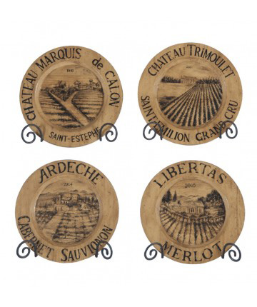 Guildmaster - Chateau Wine Label Chargers - 163503S