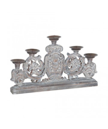 Guildmaster - Carved Scroll Candle Stand - 303501