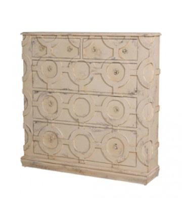 Guildmaster - Carved Tall Wall Chest - 640009