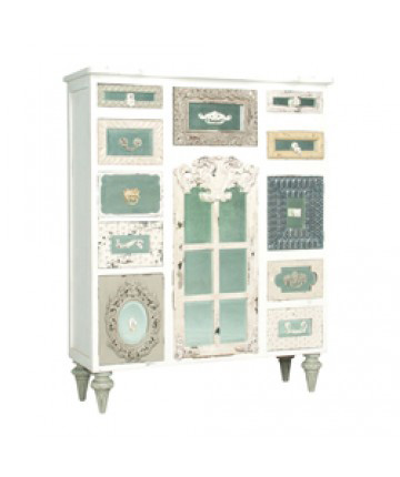 Image of Mirror Mosaic Tall Chest
