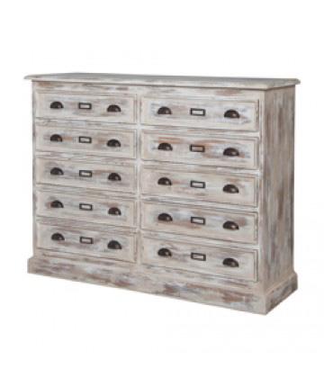 Guildmaster - European Farmhouse 10-Drawer Dresser - 644023