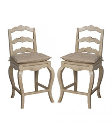 Guildmaster - Pair of French Provencal Counter Stool - 660002P