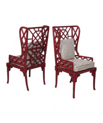 Guildmaster - Pair of Bamboo Wing Back Chair - 692505P