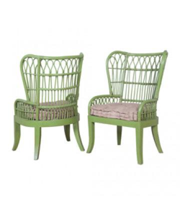 Guildmaster - Pair of European Farmhouse Rattan Chair - 694001P