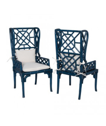 Guildmaster - Pair of Bamboo Wing Back Chair - 694018P