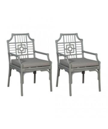 Guildmaster - Pair of Manor Rattan Arm Chair - 694507P