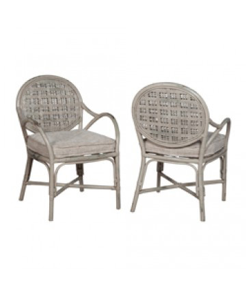 Guildmaster - Pair of Farmhouse Rattan Arm Chair - 694512P