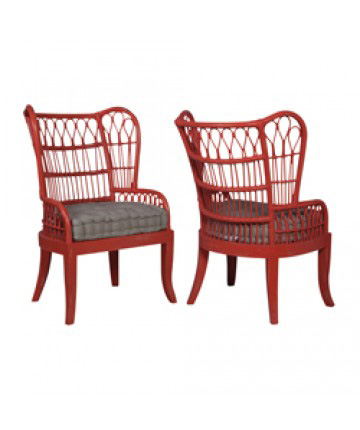 Guildmaster - Pair of Rattan Wing Back Chair - 694535P