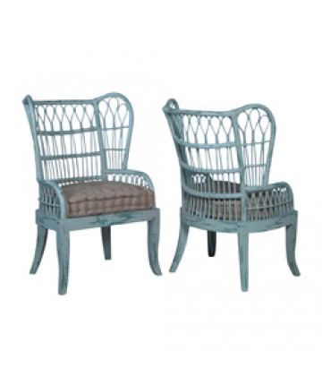 Guildmaster - Pair of Rattan Wing Back Chair - 694536P