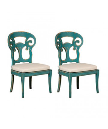 Guildmaster - Pair of Verona Club Side Chair - 697502PCC