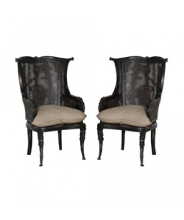 Guildmaster - Pair of Caned Wingback Chair - 699019P