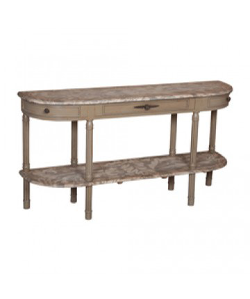 Guildmaster - Fluted Demilune Console Table - 713535