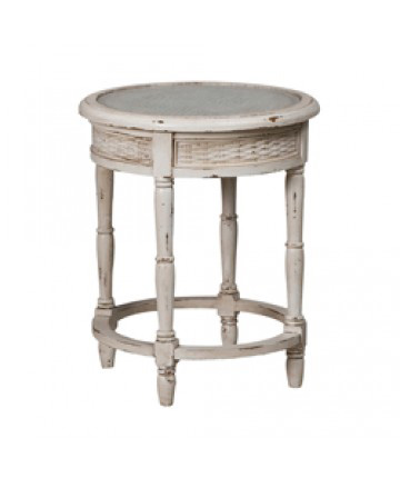 Guildmaster - Round Side Table W/Caning - 719068