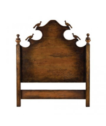 Guildmaster - Queen Headboard with Carved Birds - 958002RS
