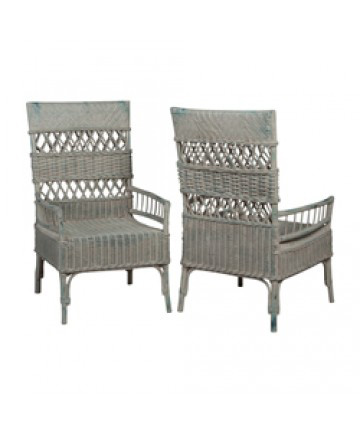 Image of Woven Rattan Arm Chair