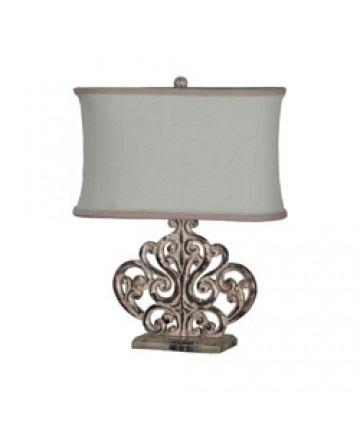 Guildmaster - Carved Scroll Element Lamp - 355003