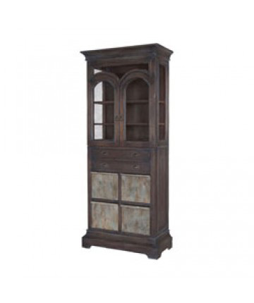 Image of Farmhouse Kitchen Display Cabinet