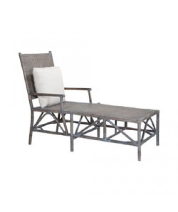 Image of Woven Rattan Lounge Chair
