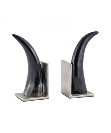 Guildmaster - Abilene Natural Horn Bookends - Set Of 2 - 8903-042/S2