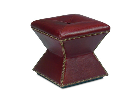 Chaddock - Leather Faceted Ottoman - L-0415-0