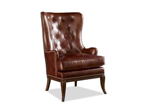 Chaddock - Leather Sherman Wing Chair - L-1033-1