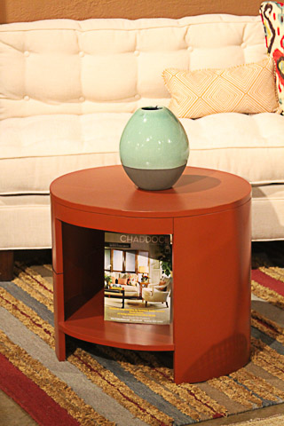 Chaddock - Hot Red Cider Posta Vecchia Side Table - DE1036