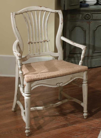 Image of Wheat Rush Seat Arm Chair