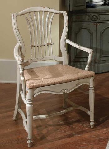 Habersham - Wheat Rush Seat Arm Chair - 43-2210