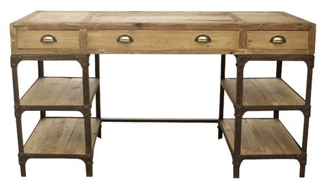 GJ Styles - Pine and Iron Desk - CS05