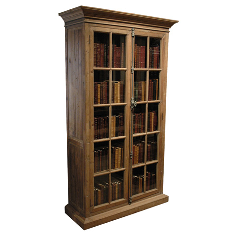 GJ Styles - Pine Two Door Glazed Bookcase - CS09