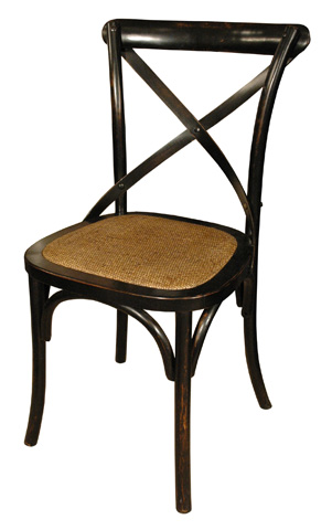 GJ Styles - Cross Chair with Braided Seat - CS23
