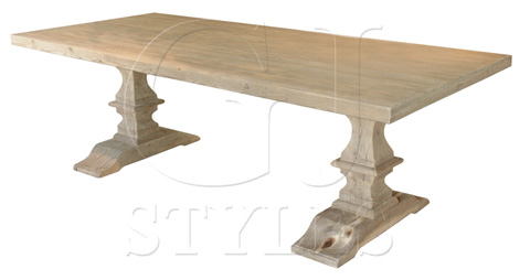 GJ Styles - Twin Baluster Dining Table - SN269