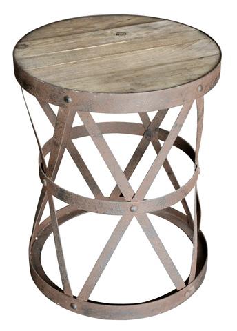 GJ Styles - Elm and Rustic Steel End Table - AH12