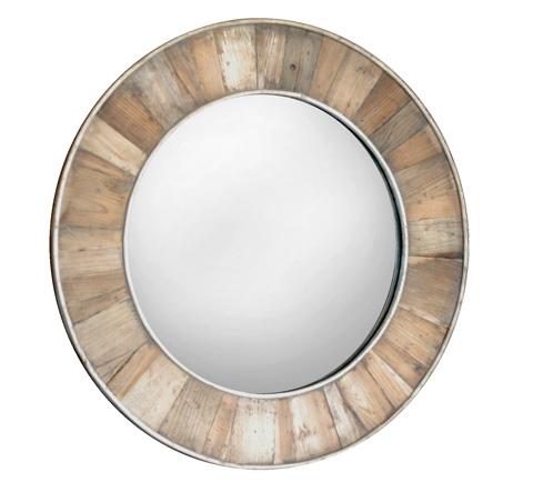 GJ Styles - Pine Round Mirror - AH11