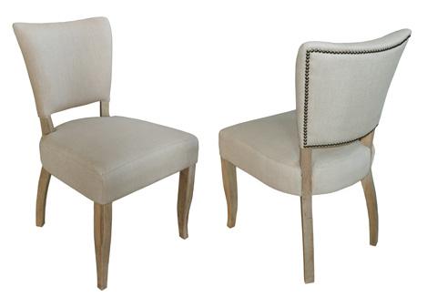 GJ Styles - Upholstered Linen Side Chair - AH37