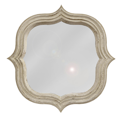 GJ Styles - Quatrefoil Mirror in Antique White - AH47