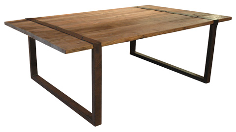 GJ Styles - Elm and Iron Coffee Table - CS02