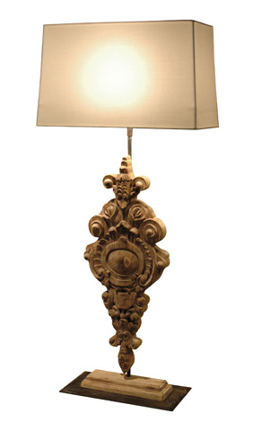 GJ Styles - Avignon Lamp with Shade - DF15