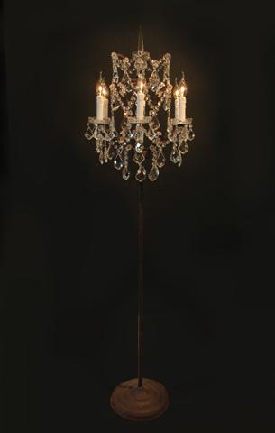 GJ Styles - Floor Lamp Antique Rust - HL12