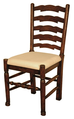 GJ Styles - Ladder Back Side Chair in Oak - JK10