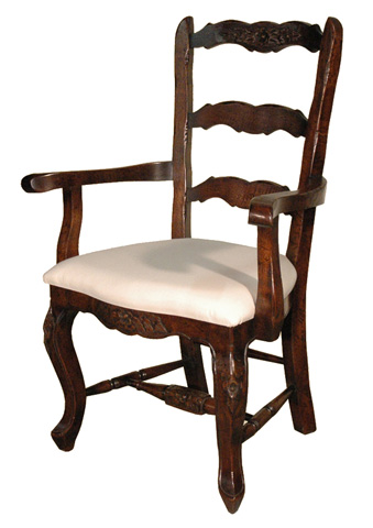 GJ Styles - French Style Arm Chair in Oak - JK31