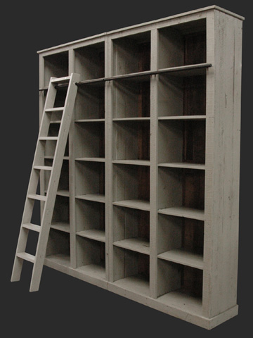 GJ Styles - Luberon Bookcase in Boston Grey - KS126