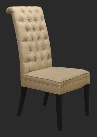 GJ Styles - New Delhi Chair in Ecru Linen - KS163