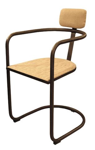 GJ Styles - Gorky Arm Chair in Burlap - KS230