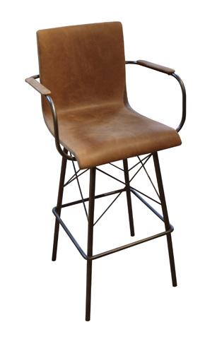 GJ Styles - Diaw Barstool in Brogan Brown - KS339