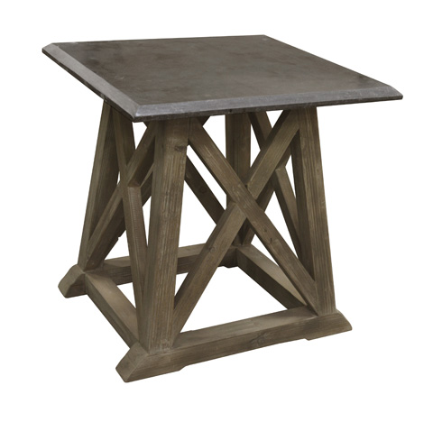 GJ Styles - Stone Top Side Table - LD114-OL