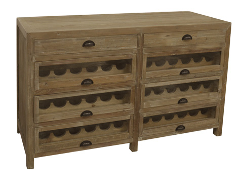 Image of Pine Double Wine Chest