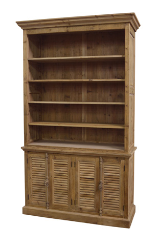 GJ Styles - Natural Open Top Double Bookcase - LD134-NA