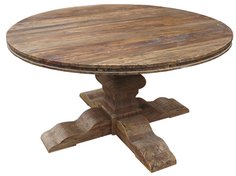 GJ Styles - Round Dining Table in Elm - LD19-NA